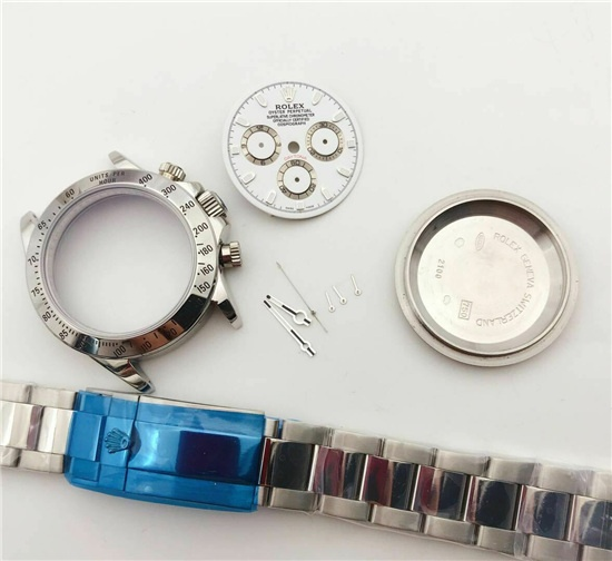 FIT ETA asion 7750 Movement steel bezel watch repair case kit for fix rolex daytona