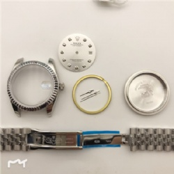 FIT ETA 2824 Movement watch case kit for fix DATEJUST 36MM DIAL silver